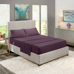 Purple Egyptian Comfort Bed Sheets 4 Piece!